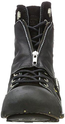 Yellow Cab Herren Industrial M Biker Boots Schwarz (Black)