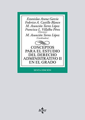 Conceptos para el estudio del Derecho administrativo II en el grado (Derecho - Biblioteca Universitaria De Editorial Tecnos)