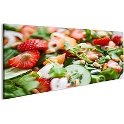 islandburner Bild Bilder auf Leinwand Sommer-Salat mit Erdbeeren und Cantaloupe Wandbild, Poster, Leinwandbild ESO