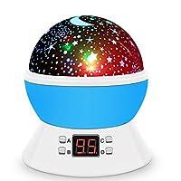 Star Lamp Projector,DSAATN Rotating Star Moon Sky Projector, Romantic Baby Room Lamp,Valentine