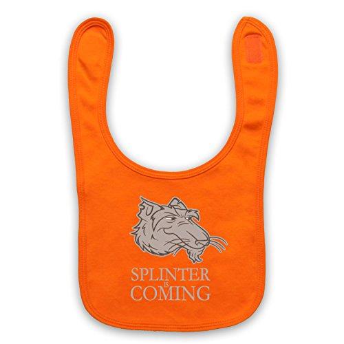 Inspiriert durch Splinter Is Coming Teenage Mutant Ninja Turtles Parody Inoffiziell Baby Latzchen, Orange