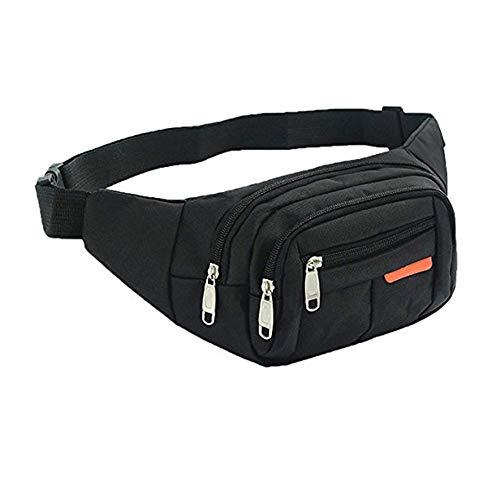 ZYCX123 Fischen-Beutel-bewegliches im Freien wandernden Reise Angelgerät Taschen Multiple Gürteltasche Fanny-Pack schwarz