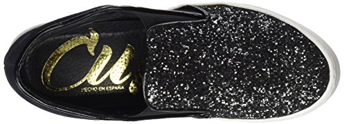 Damen Sneakers CUPLE Nuevo Silber Antracita 103067 Z8wCq