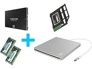 Kit SSD Samsung 850 EVO 1 To + 8 Go RAM (2x4) + baie + boîtier graveur