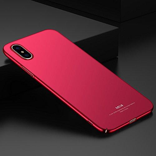 "Yooky iPhone X / iPhone 10 Case Fall Hülle , iphone X / iPhone 10 Cover Tasche , Scratch Resistant Ultra-Thin Slim Hard PC Premium Schutzhülle Shell für 5.8 ""Apple iPhone X / iPhone 10 Red"
