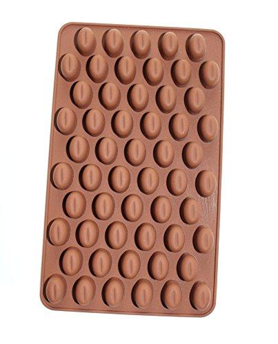 dingsheng Classic Mini 55Coffee Bean Silikon Form handgefertigt Schokolade Bohnen Pudding Jelly Silikon Mold Backform 18,3x 10,9x 1,3cm zufällige Farbe (Jelly Bean-form)