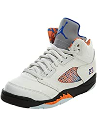 64b6bf63b766d7 Jordan Retro 5 International Flight Sail Racer Blue-Cone-Black Little Kid