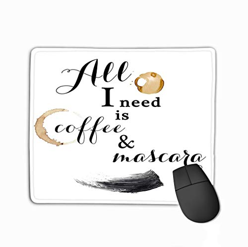 Coffe Mascara Fun Quote Quotation Text Background Fashion steelseries Keyboard ()