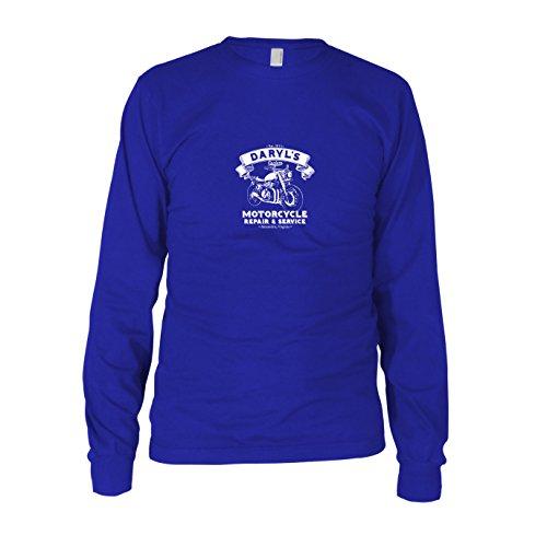 Daryl's Motorcycle Service - Herren Langarm T-Shirt Blau