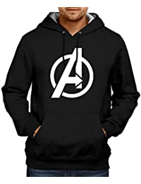 dc17e32c6d0f CUPIDSTORE Men s Sweatshirts - 6 Avengers Logo Red Blue Black Hoodies for  Mens Stylish