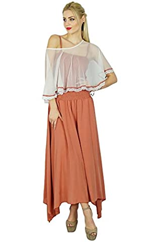 Bimba Femmes Long Maxi Dress smocks taille Top Comes With Poncho Top Chic Cap