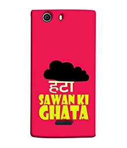 PrintVisa Designer Back Case Cover for Micromax Bolt Q335 (Clouds Cloudy Sawan Ghata Pink Black)