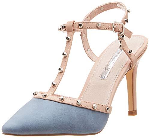 XTI 35046, Zapatos tacón Punta Cerrada Mujer, Azul