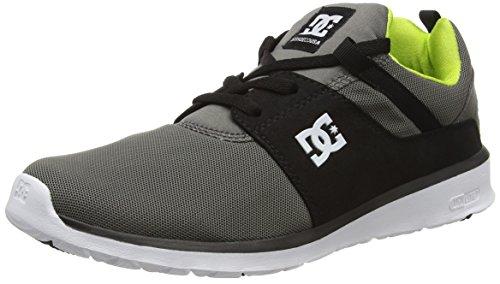 DC ShoesHeathrow - Scarpe da Ginnastica Basse Uomo , grigio (Grau (Grey/Black/Green - XSKG)), 44 EU