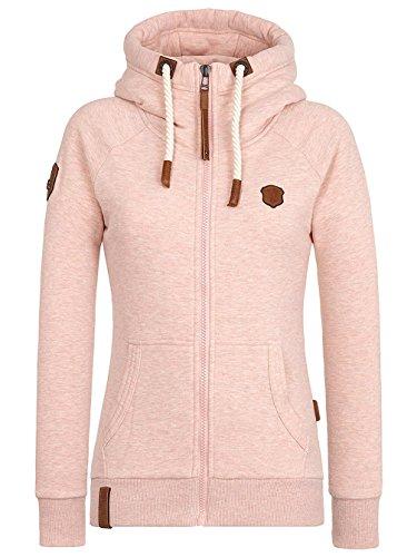 Naketano Female Zipped Jacket Brazzo pastel pink melange