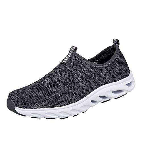 Im Alter Von Bronze-kreuz (B-COMMERCE Paar Herren Mesh Atmungsaktive Schuhe Weiche Unterseite rutschfeste Laufschuhe Mittlere und alte Slip-On-Schuhe)