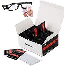 BRAVESHINE Toallitas limpiadoras para Gafas Toallitas limpiadoras para Lentes Ideal para iPhone, iPad. Computadora
