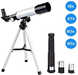 Manfore Kids Telescopes, 90X Science Astronomical Telescope with Tripod 2 Magnification Eyepieces