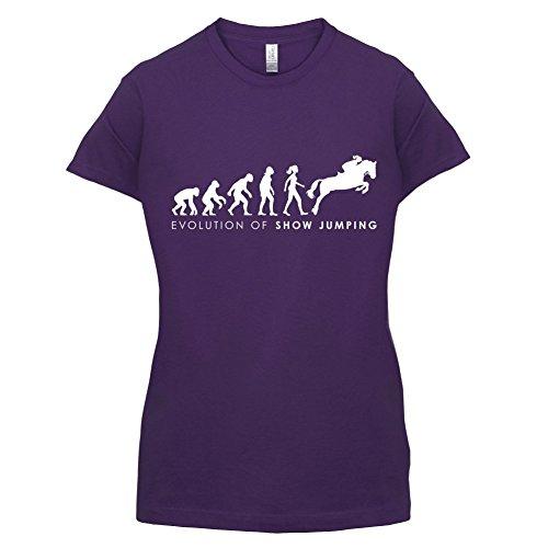Evolution of Woman - Springreiten - Damen T-Shirt - 14 Farben Lila