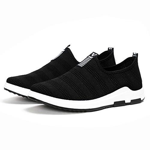 POLPqeD Scarpe uomo Sportive Sneakers Senza Lacci alla Moda Traspiranti da Tennis in Maglia Leggera da Esterno Eleganti Leggere Scarpe da Corsa