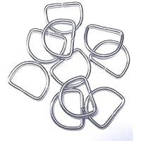 Halbringe/D-Ringe silber 20 mm 10er Set