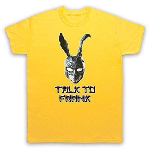 Inspiriert durch Donnie Darko Talk To Frank Unofficial Herren T-Shirt Gelb