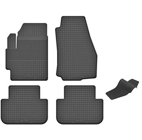 KO-RUBBERMAT Gummimatten mit Tunnel geeignet zur Ford TOURNEO Connect II (ab 2013) ideal angepasst 5-Teile EIN Set