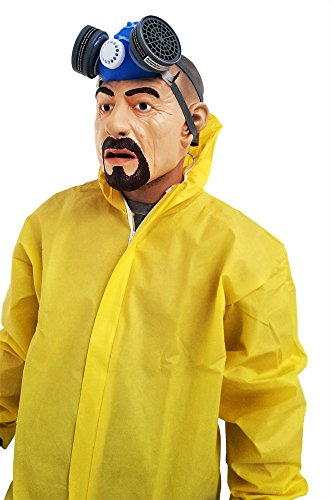 Bad Breaking Meth Kostüm - Breaking Bad Kostüm HEISENBERG Walter White Overall Gasmaske Handschuhe, Größe:L