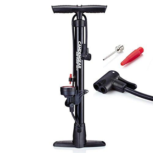 Preisvergleich Produktbild Camden Gear Fahrradpumpe,  Luftpumpe für Fahrrad mit Alle Ventile z.B. Französisches und Auto Ventil,  Standpumpe mit Manometer Fahrradluftpumpe Adapter