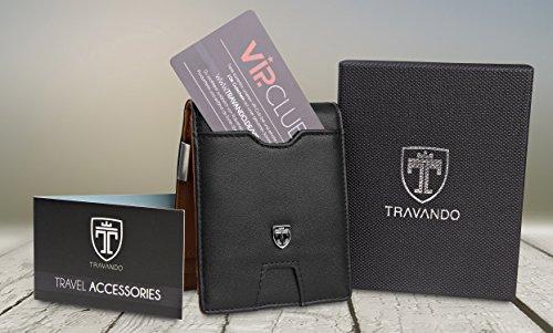 """TRAVANDO ® Geldbörse mit Geldklammer """"LONDON"""" - 7"""