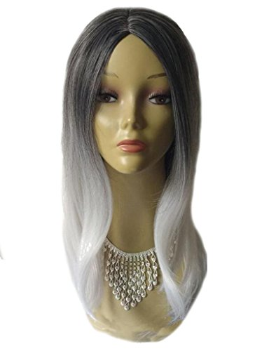 an-lkyiqi-europa-e-stati-uniti-moda-donna-bianco-e-nero-colore-sfumato-lunga-parrucca-capelli-lisci-