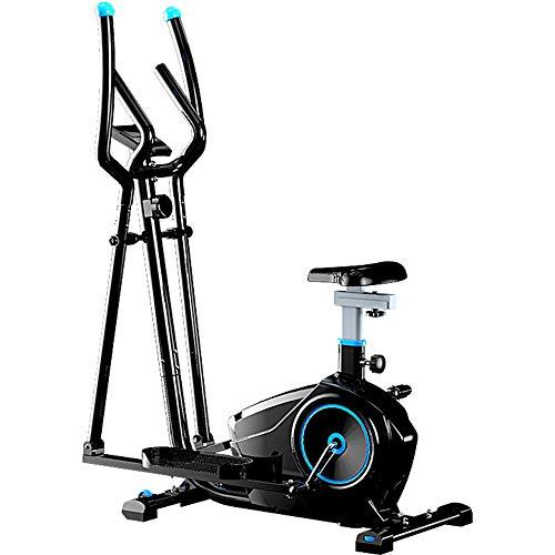 Ellipsentrainer mit Sitz, Home Mute Magnetron Cross Trainer, mit IPAD-Halterung und Herzfrequenz-Test, für Büros und Fitnessstudios geeignet