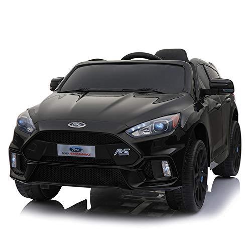 cristom Voiture électrique 12V pour Enfant License Ford Focus RS telecommande parentale (Noir)