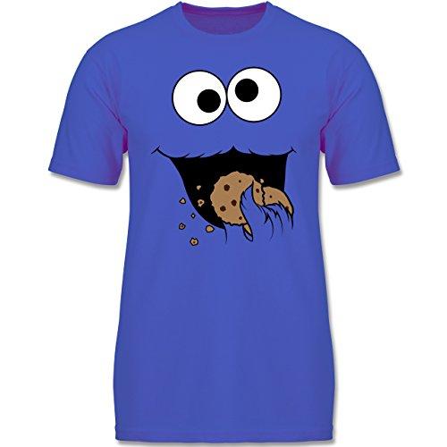 Kinder - Keks-Monster - 128 (7-8 Jahre) - Royalblau - F140K - Jungen T-Shirt (Gruppe Kostüme Für 8)