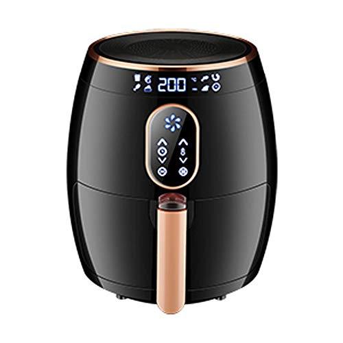 LCTCZG Airfryer con Tecnologia Rapid Air per Cottura Sana, Cottura e griglia Schermo LCD Full Touch - 2.6L Grande capacità Senza Olio Intelligente (Colore : Nero)