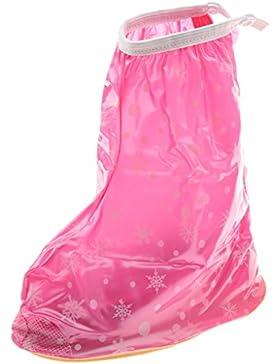 Generic Bambini PVC Riutilizzabili Impermeabile Pattini Della Pioggia Copriscarpe Scarpe Copertura Fiocco Di Neve