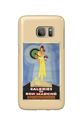 galeries-du-bon-marche-vintage-poster-belgium-c-1929-galaxy-s7-cell-phone-case-slim-barely-there