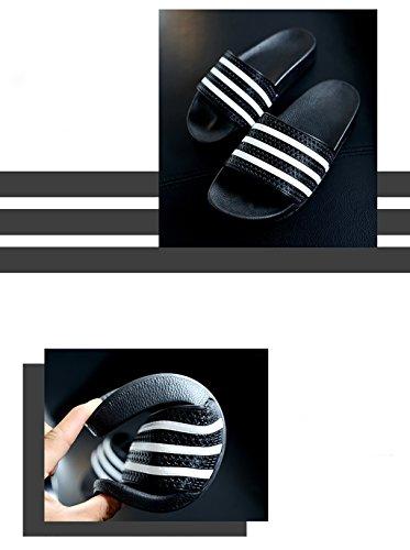 Chaussons Pantoufles dété hommes pantoufles de bain salle de bains dété couple pantoufles maison dintérieur ( Couleur : Noir , taille : 23-24cm ) Noir