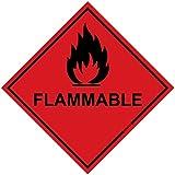 Warnzeichen-Aufkleber, Rautenförmig, Aufdruck, Schwer, 100 X 100 mm