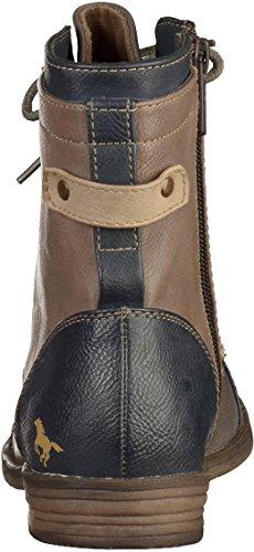 Mustang Damen-booty, Chaussons montants femme - Bleu/gris