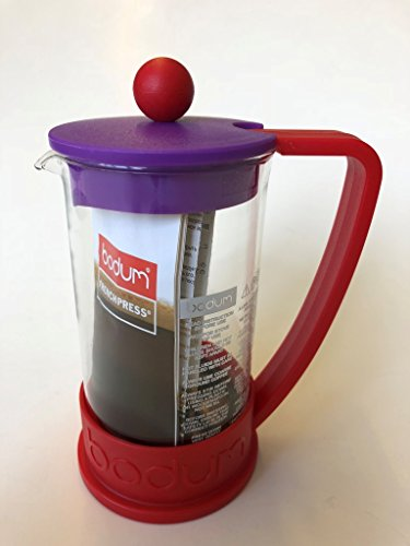 Bodum Brazil-Cafetera de émbolo para 3tazas, 0,35l-Rojo/violeta