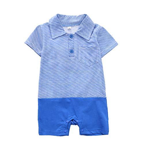 Ensembles Shorts Et Haut T-Shirt Et Pantalons 2 Pcs,Mounter Combi-Short Barboteuse à Rayures Bleu Marine