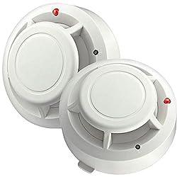 Semoss Smoke + Heat Detector Fire Alarm with Dual Photoelectric Smoke and Heat Sensors by Castho