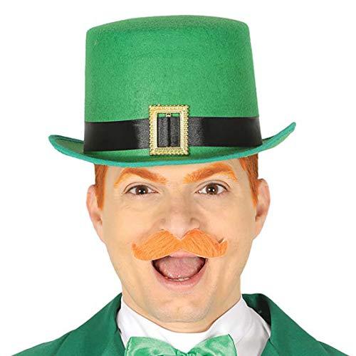 NET TOYS Zylinder Sankt Patrick's Day | Grün | Universelle Herren-Kopfbedeckung Paddy's Day Leprechaun | Ideal für Themenabend & Mottoparty (Paddy's Day Kostüm)