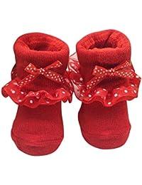 BBsmile -Calcetines de recién nacido/Patucos bebé de algodón ...
