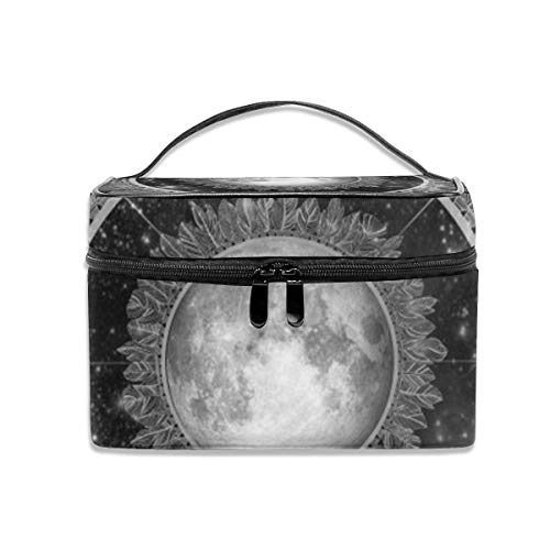 Trousse portatile per appendere il trucco, Major tom floating in my tin can far above the moon Portable Travel Makeup Bag Cosmetic Organizer Tote Bag for Women Girls
