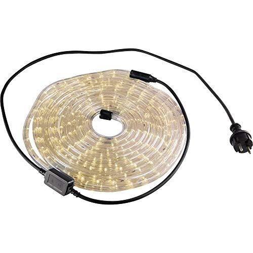 GEV 10697, flexible lumineux à LED, plastique, blanc chaud, 600 x 1.3 x 1.3 cm