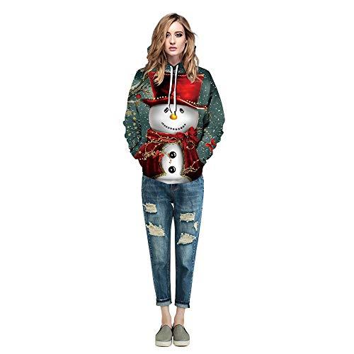 Tasche Kostüm M&ms Von - Fancyart Schneemann-Weihnachts Paar Pullover Polyester 3D Printed Kleidung, Cosplay Bühnenkostüm Zeigen Geburtstags-Geschenk Leichte Pullover-Strickjacke Hoodie,Ms,M