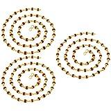Rudraksha Golden cap mala combo of 3 Pack Beads size 6mm