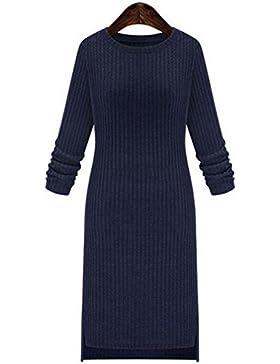 La Sezione Lunga Autunno Millimetro Grasso Del Vestito Da Modo Delle Donne